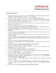 Sample Dba Resume by Sample Dba Resume Resume Cv Cover Letter Junior Oracle Dba Resume