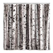 Curtains With Trees On Them Birch Forest Shower Curtain Birch Forest Bath Accessories And Birch