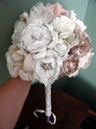 Fabric Flowers Fabric Flower Bouquet Weddingbee Photo Gallery