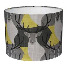 animal print l shades handmade stag lshade in yellow