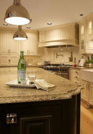 best quartz countertop colors cream cabinets dark wood island