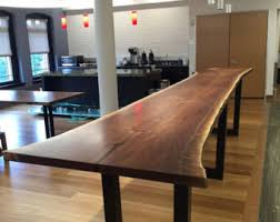 Black Boardroom Table Live Edge Table Boardroom Table Conference Tables Black Walnut