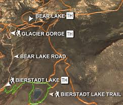 Rocky Mountain Map Hiking Trails In Heart Of Rocky Mountain National Park