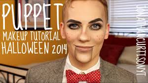 Halloween Makeup Man Puppet Makeup Tutorial Halloween Jonathancurtisonyt Youtube