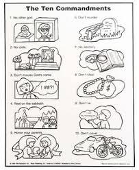10 commandments color sheet arts kids color