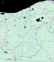 Maps Michigan by Michigan Snowmobiling Newberry Pine Stump Snowmobile Trail Map