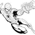 spiderman coloring pages black print gekimoe u2022 60373