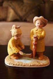 home interior denim days vintage figurine homco denim days our birdhouse figurine by