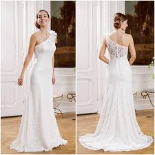 one shoulder wedding dress cheap unique one shoulder wedding dresses for flowers