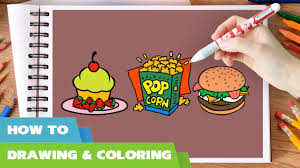 fast foods coloring pages i how to draw food coloring book i fast