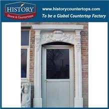 Interior Arched Doors For Sale Custom Beige Artificial Beige Marble Stone Arched Hotel Door