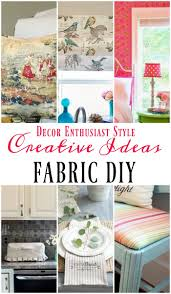 diy craft for home decor diy projects with a yard of fabric our southern home