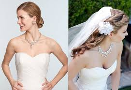 pearl necklace wedding dress images Wedding jewelry tulle chantilly wedding blog jpg
