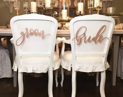 Bride And Groom Chair Bride Chair Sign