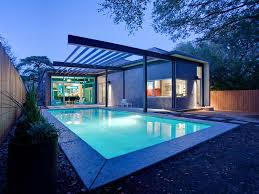 house plans with pool house stylishly simple modern one story house design