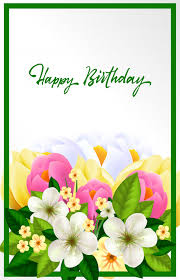 beautiful birthday card vector free download