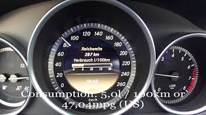 2012 mercedes benz c180 fuel consumption test youtube