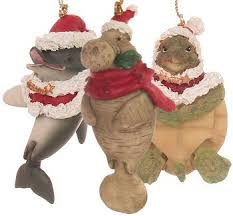 dolphin manatee turtle what a great set of 3 marine santa
