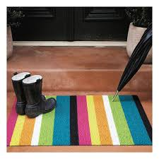 Chilewich Doormats Chilewich Shag Bold Stripe Big Utility Door Mat Color Multi Indoor