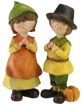 thanksgiving pilgrim figurines 10 inch figurines sculptures thanksgiving decorations bhg shop