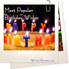 most popular birthday wishes and sayings