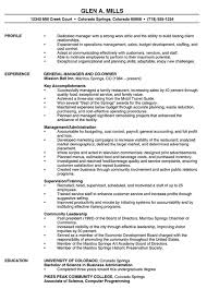 exle of an resume manager resume exle