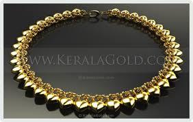 kerala gold jewellery design necklace 13
