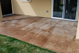 Colored Concrete Patio Pictures Diy Project How To Stain A Concrete Patio The Garden Glove