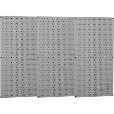 wall control industrial metal pegboard u2014 gray three 16in x 32in