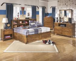 signature design by ashley cole full bookcase bed with footboard