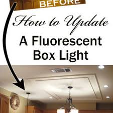 Updating Kitchen Ideas A Great Idea For Updating The Ugly Fluorescent Light Box Without