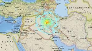 map iran iraq at least 445 dead as earthquake hits iran iraq border itv news