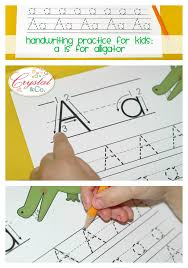 handwriting practice for kids a is for alligator crystalandcomp com