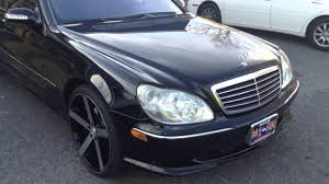 2003 mercedes s500 2003 mercedes s500 rolling out rimtyme of sitting on 22
