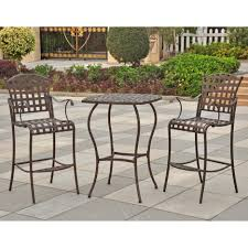 Patio Bar Height Tables Polished Cast Iron Height Armchair With Restangle Small Black Tone