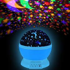 veilleuse chambre le projection nuit étoilée rotative 4 led boule ciel veilleuse