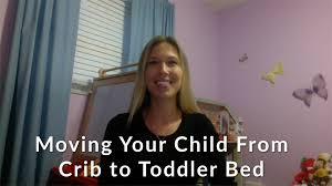 How To Convert A Crib To Toddler Bed by Moving Your Child From Crib To Toddler Bed Youtube