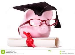 graduation piggy bank graduate piggy bank student college graduation diploma stock image