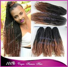 ombre marley hair stock top quality 20in black brown ombre marley hair 100