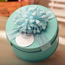 jewelry box favors ribbon wedding favor candy jewelry gift tin box