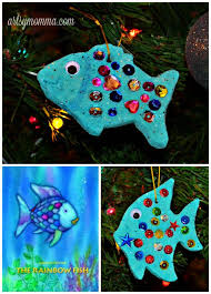 salt dough ornaments inspired by the rainbow fish gluten free