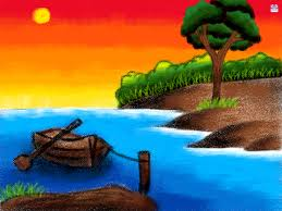 scenery drawings for kids colourful scenery for kids with wax