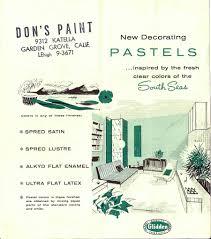 the sunshine grove 1950s glidden interior paint
