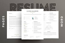 Interesting Resume Templates Unique Resume Cv Pages Word Resume Templates Creative Market