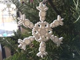 small snowflake ornaments from the snowflake machine by mathgrrl