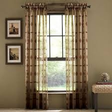 home accessories window treatment with long curtains give elegant