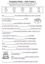 regular past tense verbs worksheets free worksheets library