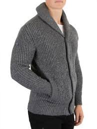 superdry men u0027s jacob shawl cardigan grey ebay