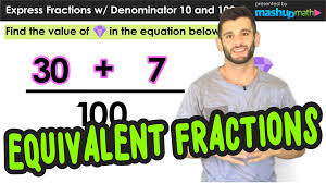 Equivalent Fractions Super Teacher Worksheets Equivalent Fractions With Denominators 10 And 100 Youtube