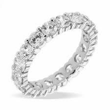 alliance en diamant alliance diamant tour complet 3 00 carats en or edendiam
